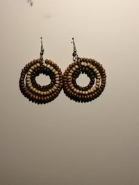 Wood beaded earrings  Baltimore, 21222