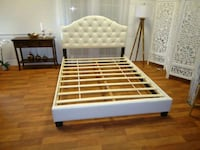New queen leather bed frame  38 km