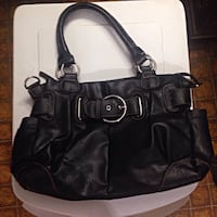 mondani black leather purse