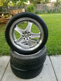 3 kong monsoon rims with 215/45/zr17s Middletown, 22645