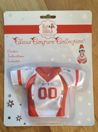 """BRAND NEW IN PACKAGE ELF ON THE SHELF """"GAME DAY JERSEY"""" CLAUS COUTURE Vaudreuil-Dorion, J7V"""