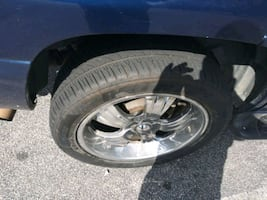 """22"""" rims new tires 6 lugs come off gmc yukon. Trade for 20 inch factor"""