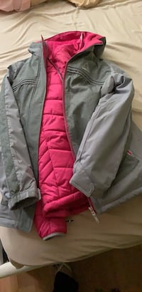 Gray and pink zip-up jacket Centreville, 20121