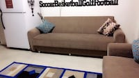 brown and black suede couch null