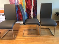 6 almost new grey dining chairs Ontario, M1E 1P3