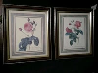 two white flowers painting with brown wooden frames Welland, L3B 5N5