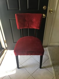 Red suede parson chair Kensington, 20895