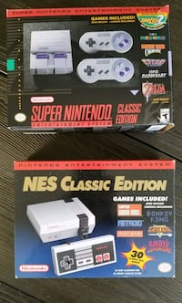 Pair!! NES & SNES - 2 consoles sold together