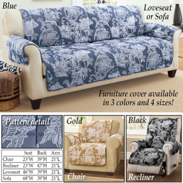 Brilliant New Black Loveseat Elnora Floral Quilted Furniture Cover Squirreltailoven Fun Painted Chair Ideas Images Squirreltailovenorg