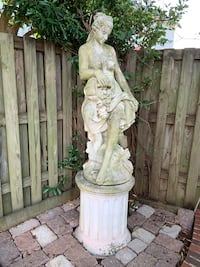 Statues: Asian Temple/Pagoda and Woman on Pedestal Falls Church, 22312