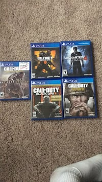 Ps4 games and a turtle beach headset