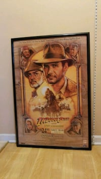 Framed Indiana Jones Poster Indianapolis, 46234