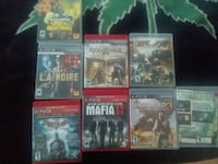 six assorted PS3 game cases 2177 mi