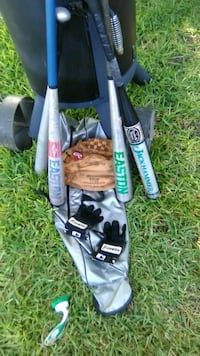 Name Brand Bats with Gloves and Bag Temple