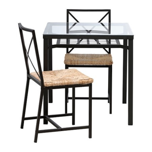 Fine Ikea Glass Dining Table With 2 Chairs Ibusinesslaw Wood Chair Design Ideas Ibusinesslaworg