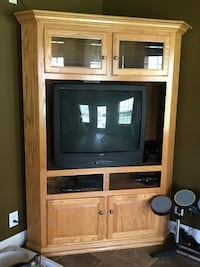 Oak tv hutch 572 mi