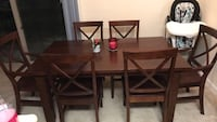 brown wooden dining table set Alexandria, 22304