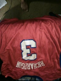 red and white # 12 jersey Washington