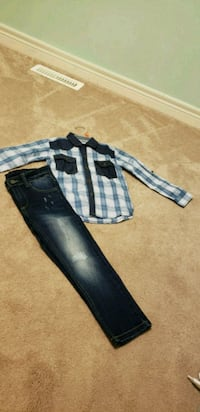 Kids jeans and shirt (brand new) 3-4T Brampton