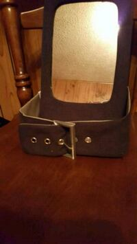 black and gray leather crossbody bag Bartlesville, 74006