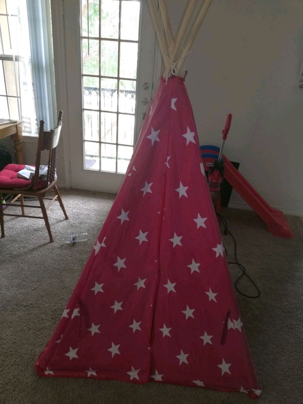 new style a937c 3af15 6ft Kids Star Teepee Play Tent w/ Carrying Bag