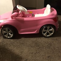 Electrical toy girl car