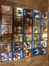 Bluray DVDs 56 used and 27 brand new $3 each