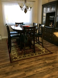 brown wooden dining table set 3489 km