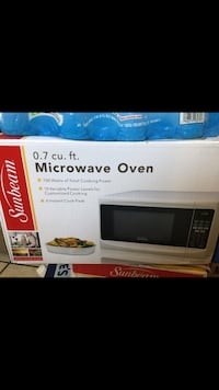 black and gray microwave oven box