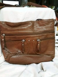 brown leather sling bag Akron, 44312