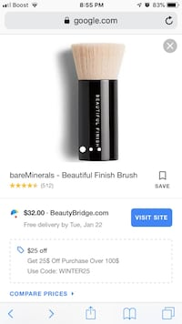 Bare Minerals-Bare Finish Brush Rockville, 20853