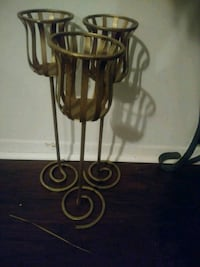 3 pretty tall candle holders..gold  Knoxville, 37915