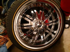 22 inch rims with Vogue Tires