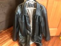 Black leather buttoned jacket Haverhill, 01830