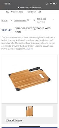 Bamboo cutting board brand new in box from a pet and smoke free home for only 25$ Vaughan, L6A 3A5