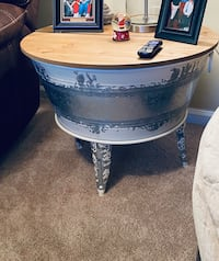 Rustic coffee table / end table.