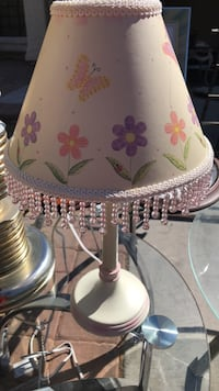 white and pink floral table lamp Las Vegas, 89119