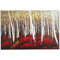 Red and white trees painting Red Birch Trees Art - 3x5 Lorton, 22079