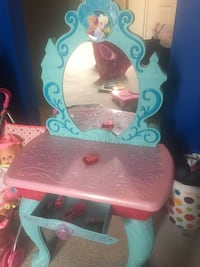 Frozen ice castle vanity + doll with stroller  Toronto, M3C 1L8