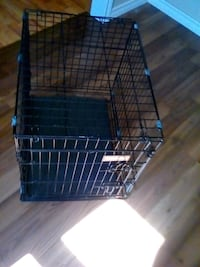 black metal folding dog crate Carrying Place, K0K 1L0