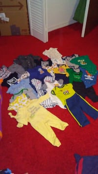 toddler's assorted clothes null