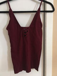 Maroon tight-fit camisole Saint-Constant, J5A