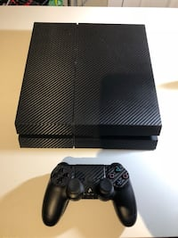 Like new, ps4 carbon wrap, controller, all cables, 6 games  Burlington, L7N