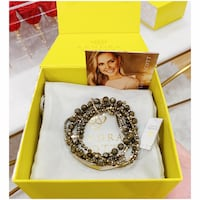 PRICE IS FIRM, PICKUP ONLY - Kendra Scott Brown Pyrite Supak Beaded Bracelet Set - BNIB- Toronto, M4B 2T2
