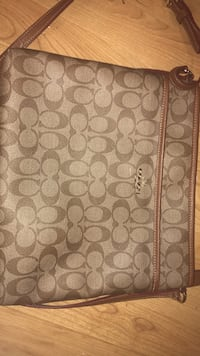 Brown and gray monogrammed coach leather crossbody bag Maple Grove, 55369