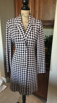 St. John pink and black checkered Petty Coat