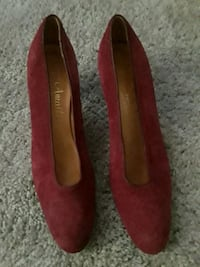 Burgundy suede shoes Fairfax