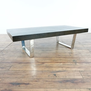 Wood And Chrome Coffee Table (1016239)