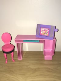 Barbie Computer Desk w/ keyboard & chair Fall River, 02720