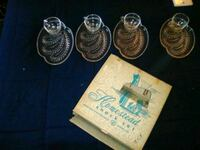 8 pc snack glassware set vintage Tulsa, 74145